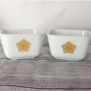 Bundle PYREX Butterfly Gold Refrigerator Dishes